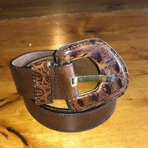 Echo Brown Leather Belt